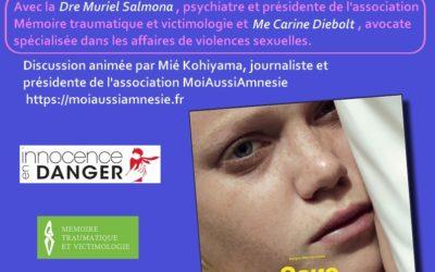 """10 novembre: projection et débat autour du film """"Sans jamais le dire"""" aux trois luxembourg avec Muriel Salmona"""